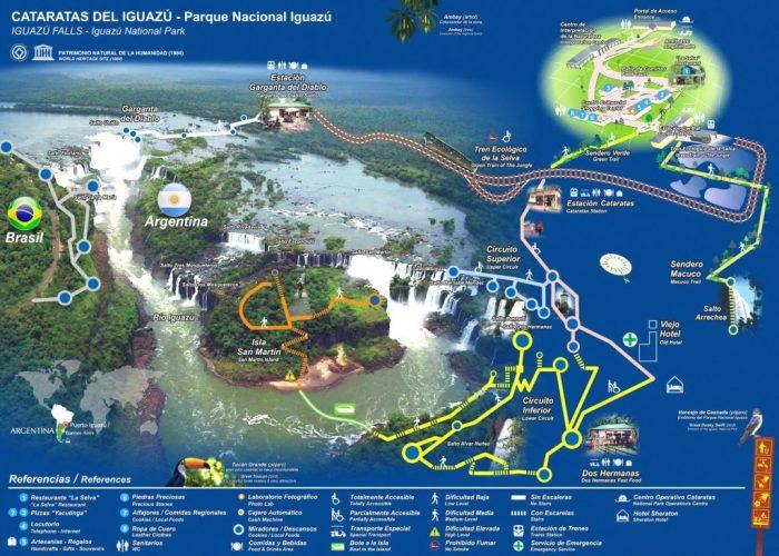 parque nacional iguazu map